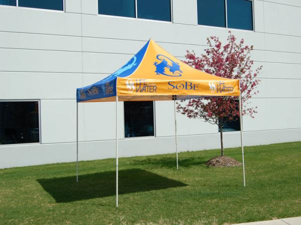 10x10 Event Tent with full dye sub top