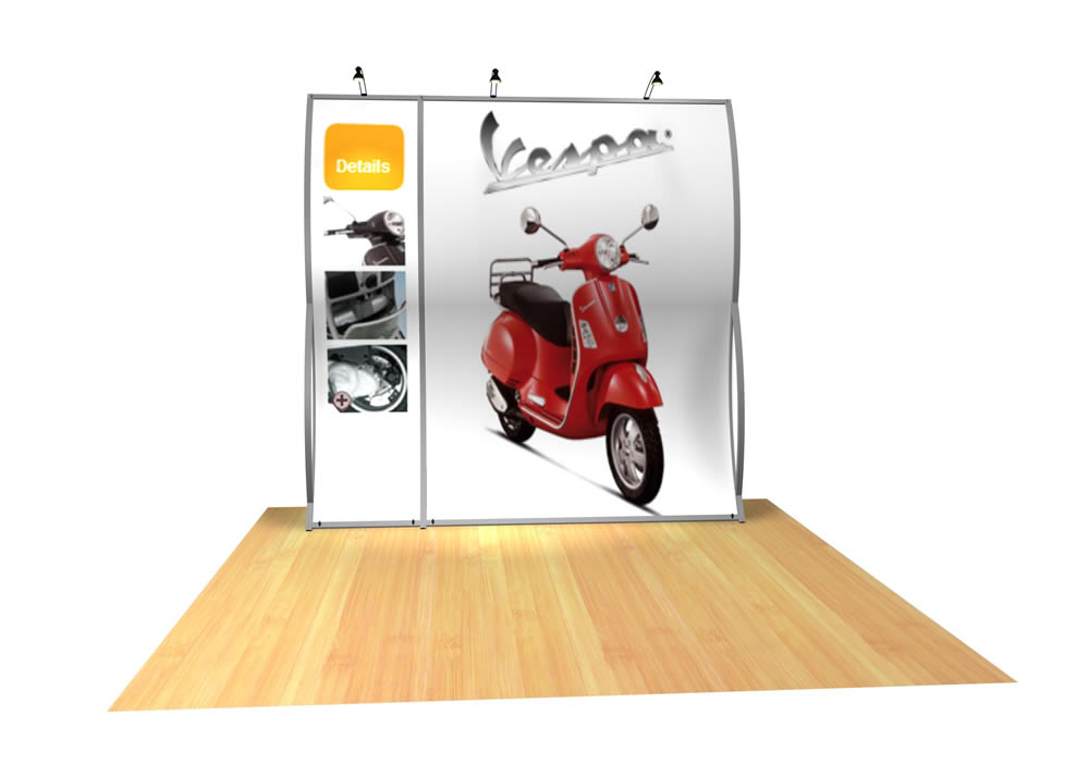 Perfect 10 VK-1500 Portable Hybrid Trade Show Display -- Image 3
