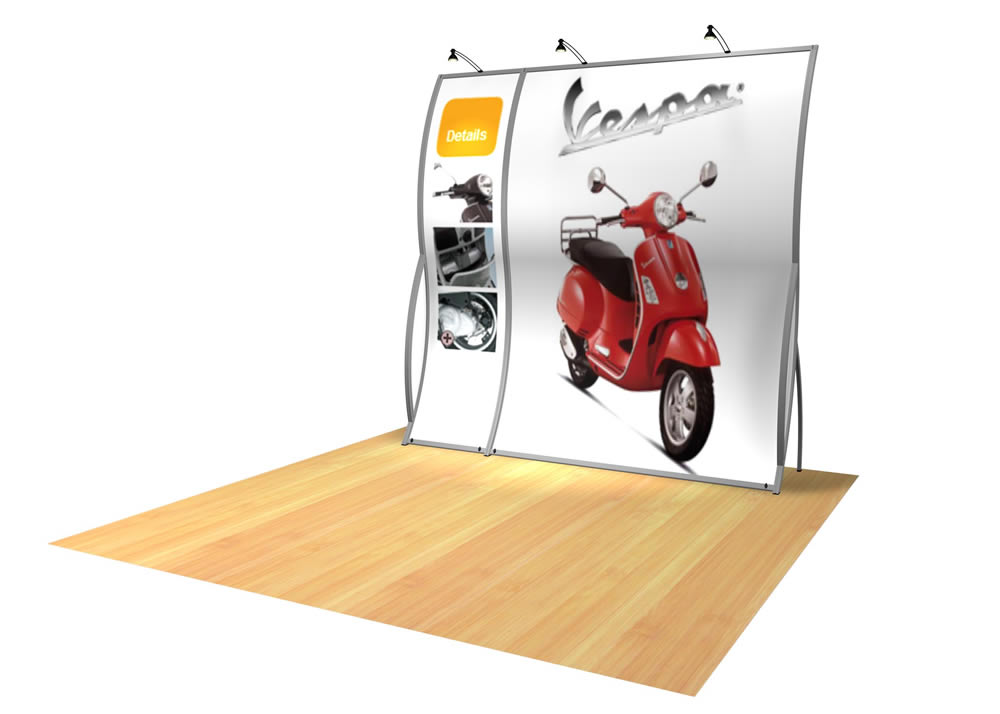 Perfect 10 VK-1500 Portable Hybrid Trade Show Display -- Image 2