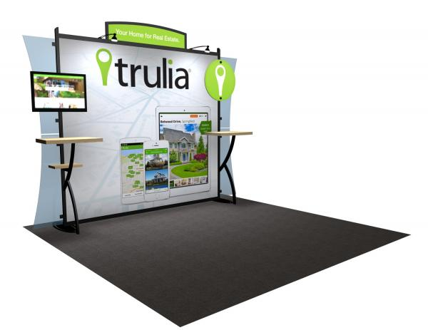 VK-1224 Portable Hybrid Trade Show Exhibit -- Convex Wings