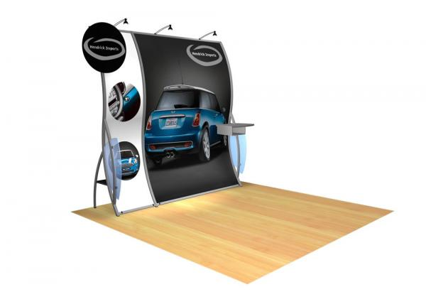 Perfect 10 VK-1503 Portable Hybrid Trade Show Display -- Image 3 (circle header)