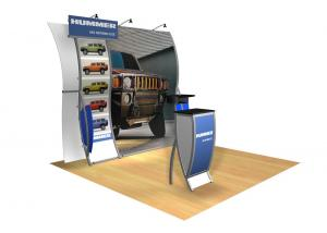 Perfect 10 VK-1508 Portable Hybrid Trade Show Display -- Image 1