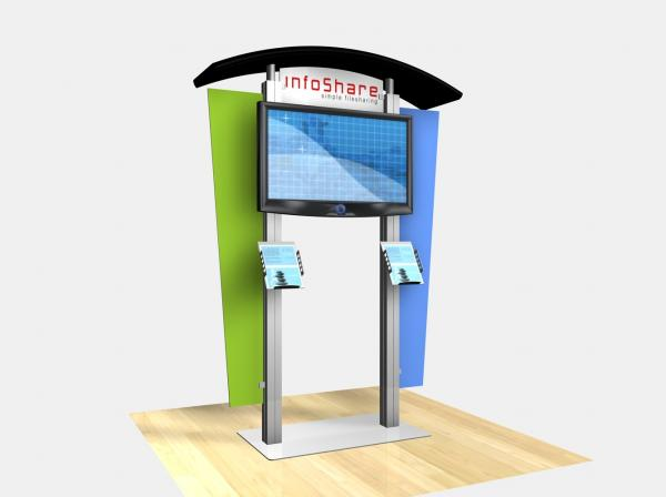 RE-1230 Rental Display / Large Monitor Kiosk with Arch Canopy - Image 1