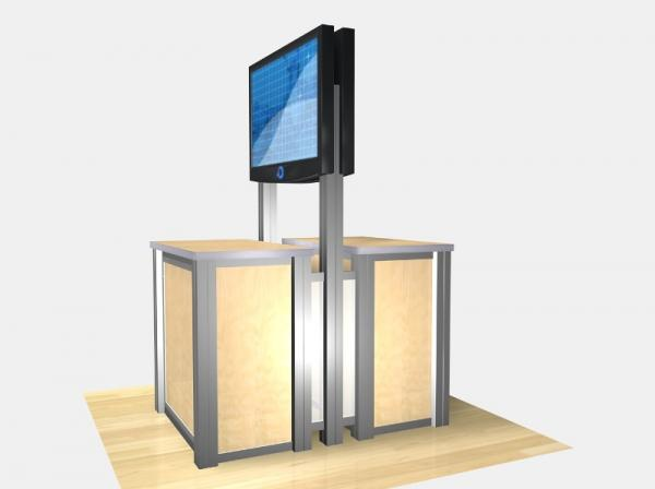 RE-1233 / Double-Sided Rectangular Counter Kiosk - Image 6