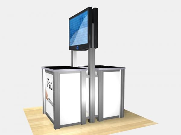 RE-1233 / Double-Sided Rectangular Counter Kiosk - Image 3
