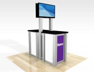 RE-1257 / Double-Sided Pedestal Kiosk - Image 1