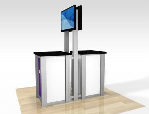 RE-1257 / Double-Sided Pedestal Kiosk - Image 2